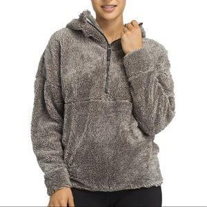 Grey Prana permafrost half zip cozy pullover